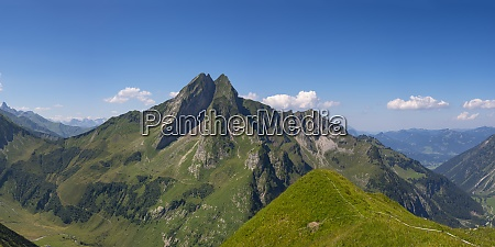 scenic panorama of hofats mountain in