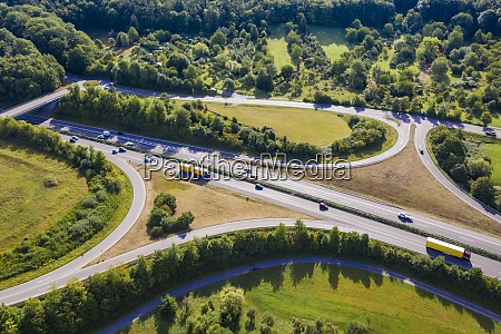 germany, , baden-wurttemberg, , aerial, view, of, traffic - 29128859