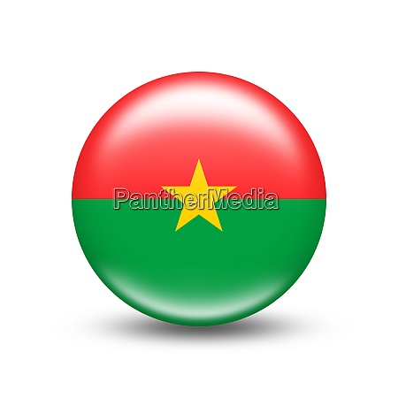 burkina faso country flag in sphere