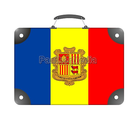 andorra country flag in the form