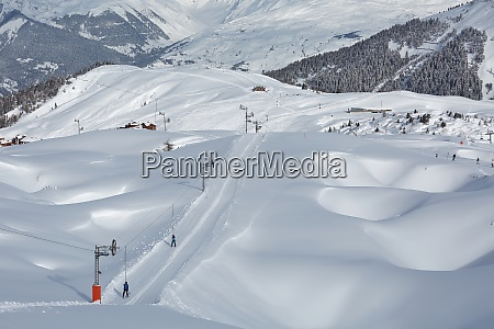 skiing slopes in the alps
