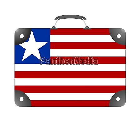 liberia country flag in the form