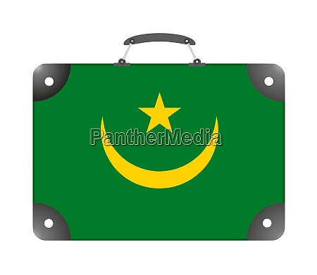 mauritania country flag in the form