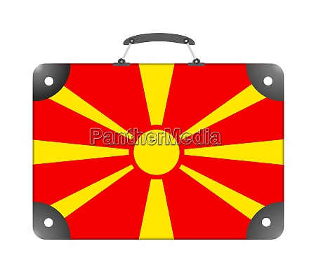 macedonia country flag in the form