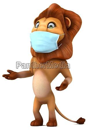 fun 3d cartoon lion with a