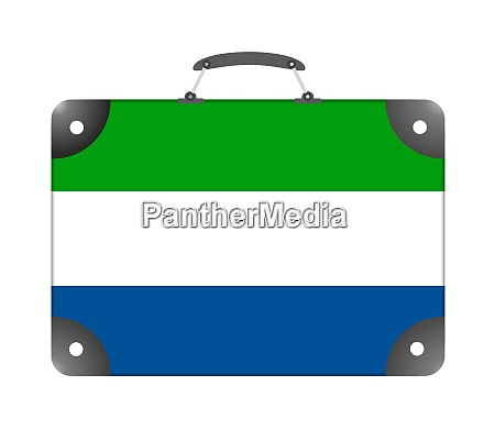 sierra leone country flag in the
