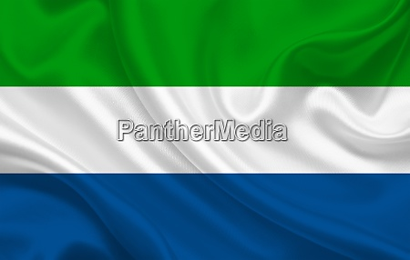 sierra leone country flag on wavy