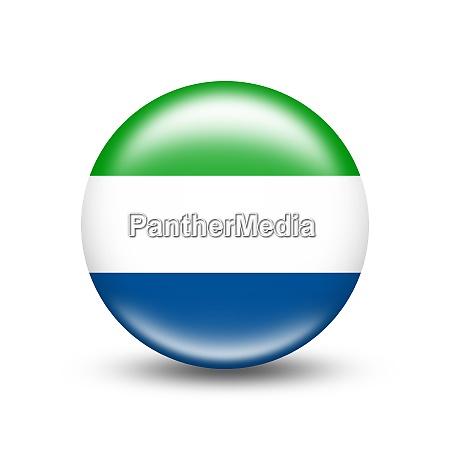sierra leone country flag in sphere