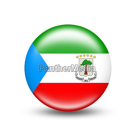 equatorial guinea country flag in sphere