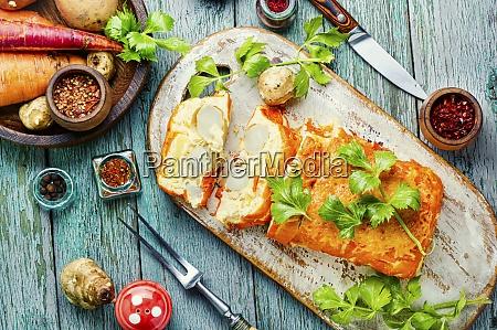appetizing vegetable terrine