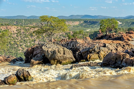 ruacana falls in northern namibia africa