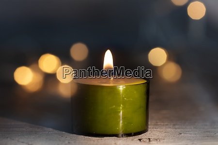 candlelight with festive bokeh