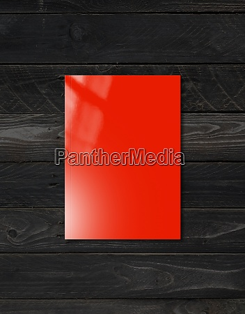 red booklet cover template on black
