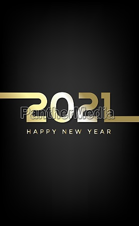 golden numbers 2021s new year wishes