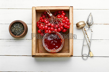 berry jam in a jar
