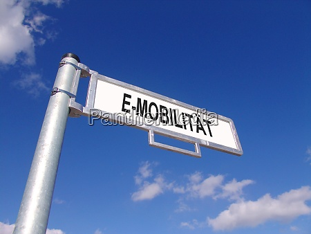 street sign showing e mobility in