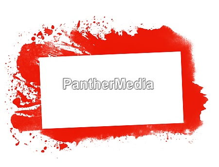 red graffiti frame with white copy