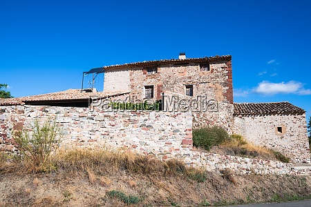 farm house from stone in the