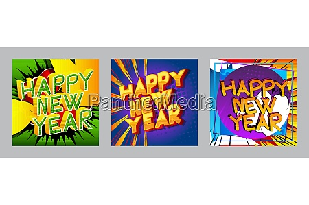 creative happy new year holiday design