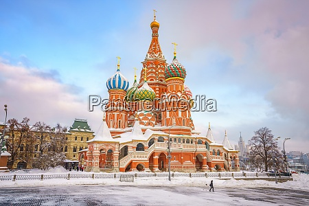 st basils cathedral in moscow at