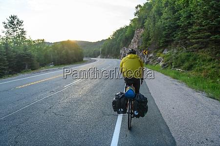 cyclist on road ontario canada