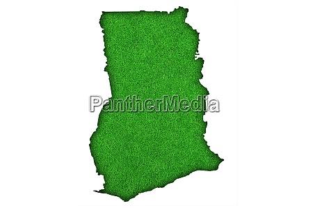 map of ghana on green felt