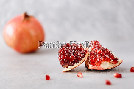 piece of fresh pomegranate fruit on