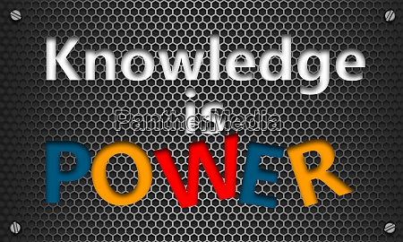 knowledge is power concept on mesh