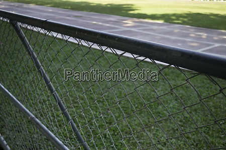 outdoor track and field stadium with