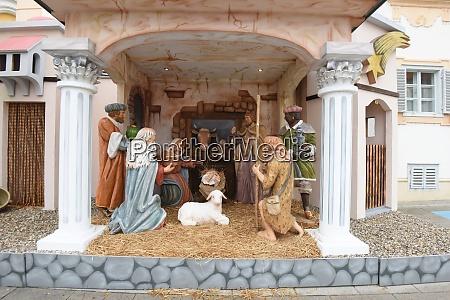 full sized christmas crib or nativity