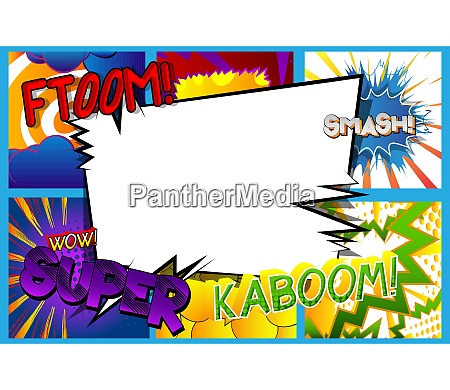 comic pop art background with place