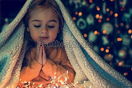 little baby making christmas wish