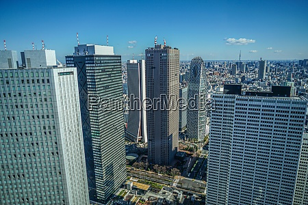 tokyo skyline seen from the observation