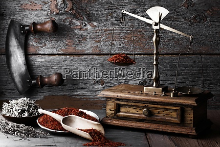 old libra on wooden background