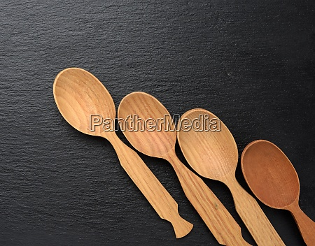 empty wooden spoons on a a