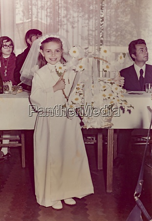 christian confirmation scene in the 60s