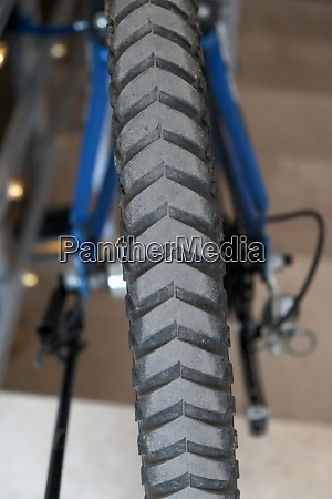 rear tire of the bike bike