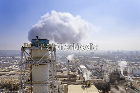 aerial view of industry metallurgical plant