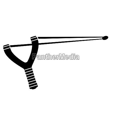 slingshot weapon icon isolated on white
