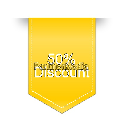 yellow 50 discount label illustration