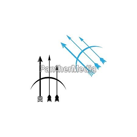 archery logo icon vector ilustration
