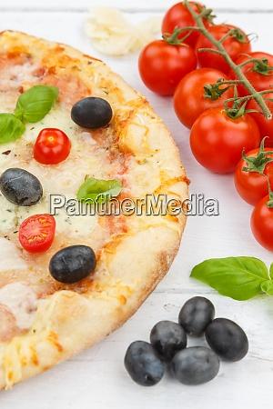 pizza margarita margherita baking ingredients on