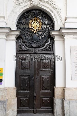 saint francis entrance of mariahilf church