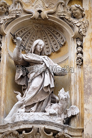 statue of saint martha of bethany