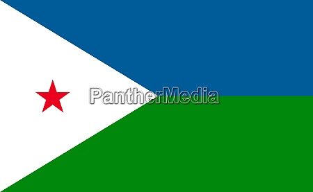 djibouti national flag in exact proportions