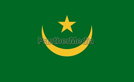mauritania national flag in exact proportions