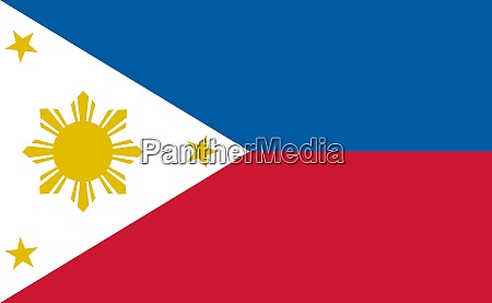 philippines national flag in exact proportions