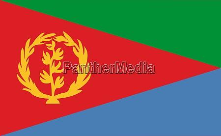 eritrea national flag in exact proportions