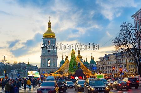 kyiv christmas new year tree