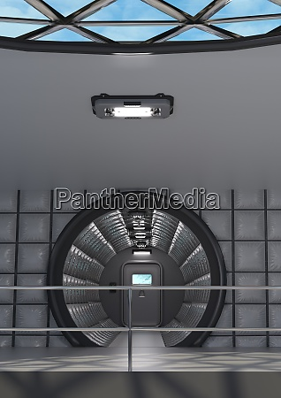 3d rendering science fiction corridor